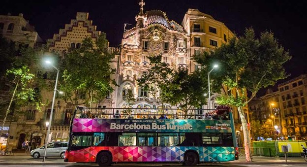 Barcelona Night Tour Bus